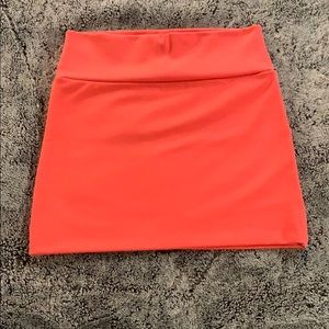 Salmon pink Mini skirt